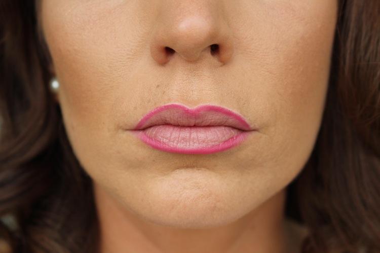 Lippenumrandung farbig