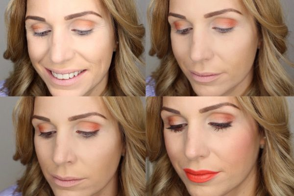 Augen-Make-Up Trendfarbe Orange
