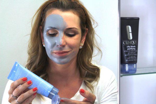 Anwendung Clinique City Block Detox - Charcoal Clay Mask + Scrub