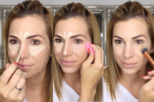 Make-up Tutorial highlighten und setten