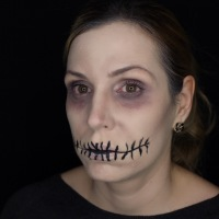 Einfaches Halloween Make-up