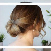 Einfache Dutt Frisur für den Sommer